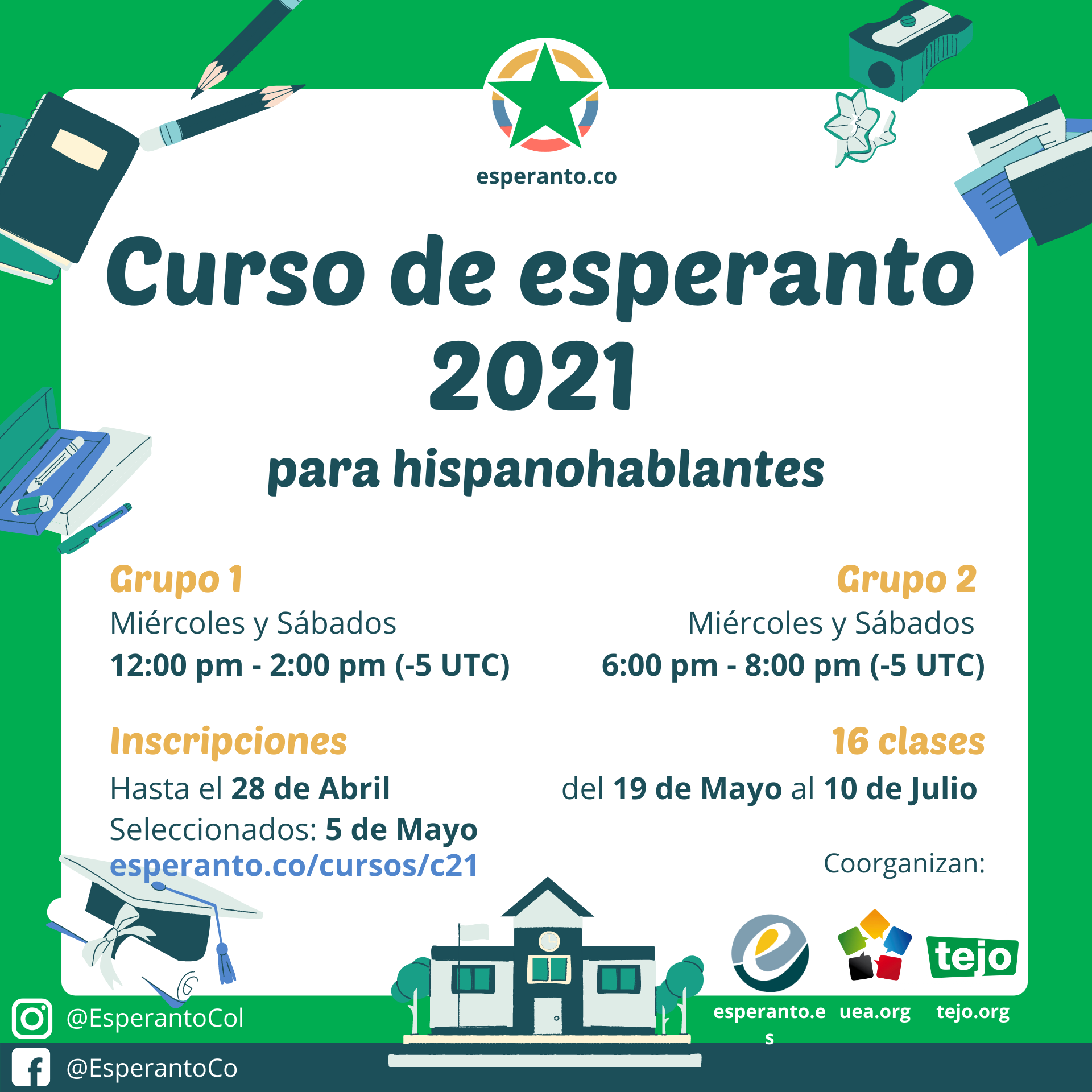 Curso de Esperanto para Hispanohablantes 2021 1